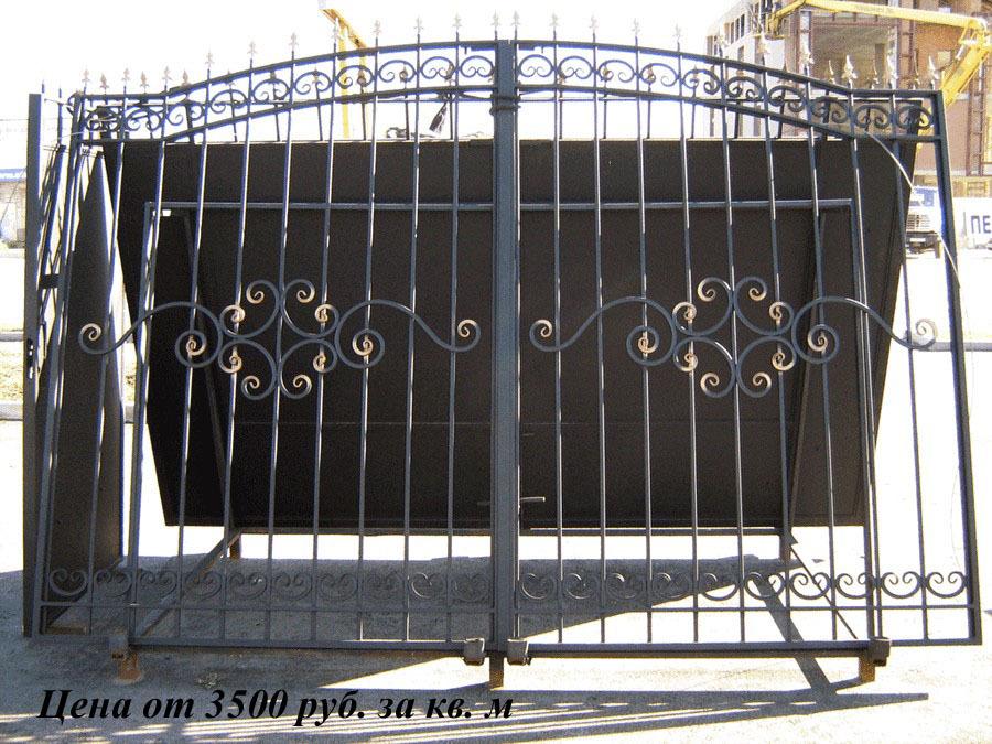 Кованные ворота своими руками фото